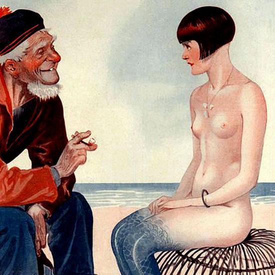 La Vie Parisienne 1925 Conseils A La Nouvelle Georges Leonnec crop B | Best of Vintage Cover Art 1900-1970