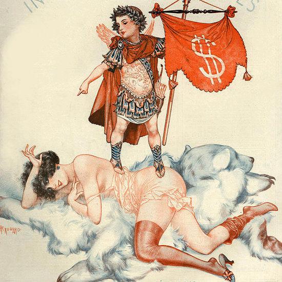 La Vie Parisienne 1925 In Hoc Signo Vinces Cheri Herouard crop | Best of Vintage Cover Art 1900-1970
