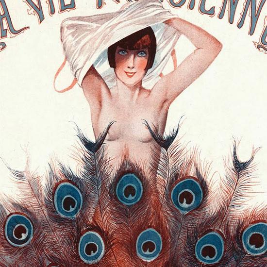 La Vie Parisienne 1925 Le Paon Censeur Georges Leonnec crop B | Best of 1920s Ad and Cover Art