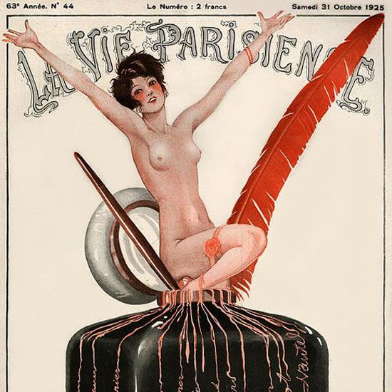 La Vie Parisienne 1925 Octobre 31 Georges Leonnec crop | Best of 1920s Ad and Cover Art