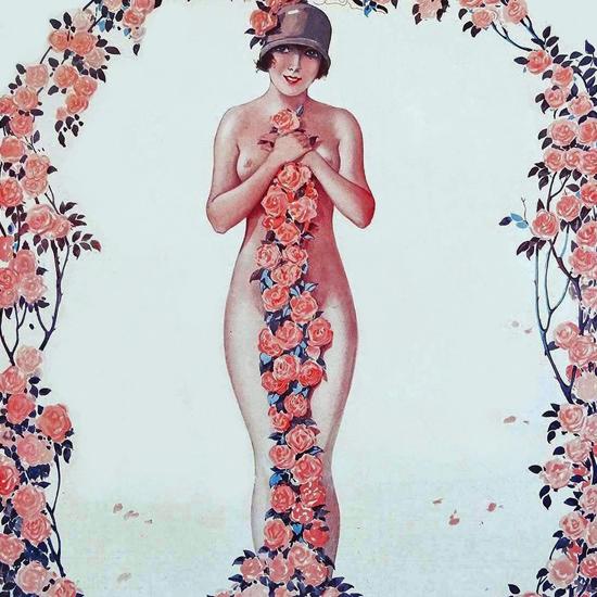 La Vie Parisienne 1925 Rosier Grimpant Georges Leonnec crop | Best of Vintage Cover Art 1900-1970
