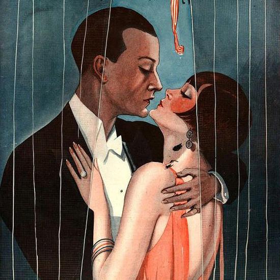 La Vie Parisienne 1925 Tirer Le Rideau Georges Leonnec crop | Best of Vintage Cover Art 1900-1970
