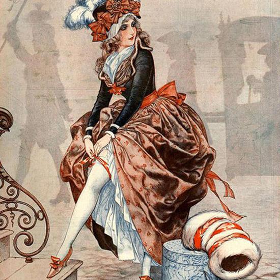 La Vie Parisienne 1925 Un Appel Dans La Brume Cheri Herouard crop   Best of 1920s Ad and Cover Art