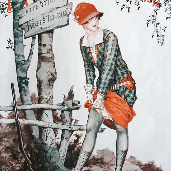 La Vie Parisienne 1926 Attention Pieges Tendus Cheri Herouard crop | Best of Vintage Cover Art 1900-1970