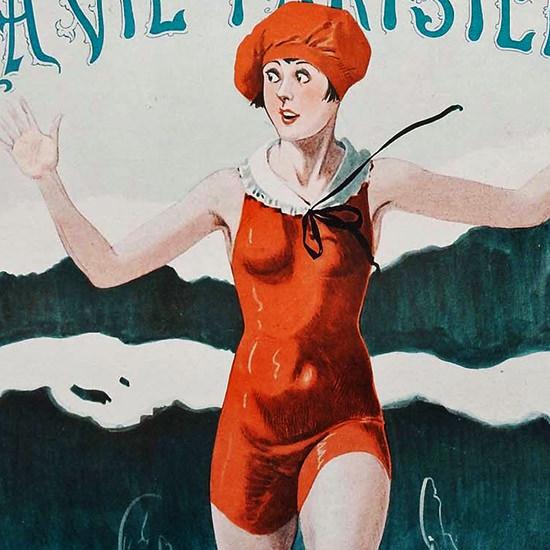 La Vie Parisienne 1926 Au Secours Georges Leonnec crop B | Best of 1920s Ad and Cover Art