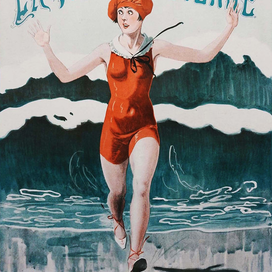 La Vie Parisienne 1926 Au Secours Georges Leonnec crop | Best of 1920s Ad and Cover Art