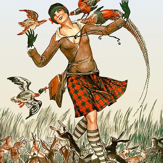 La Vie Parisienne 1926 Il Y A Du Gibier ValdEs crop | Best of 1920s Ad and Cover Art