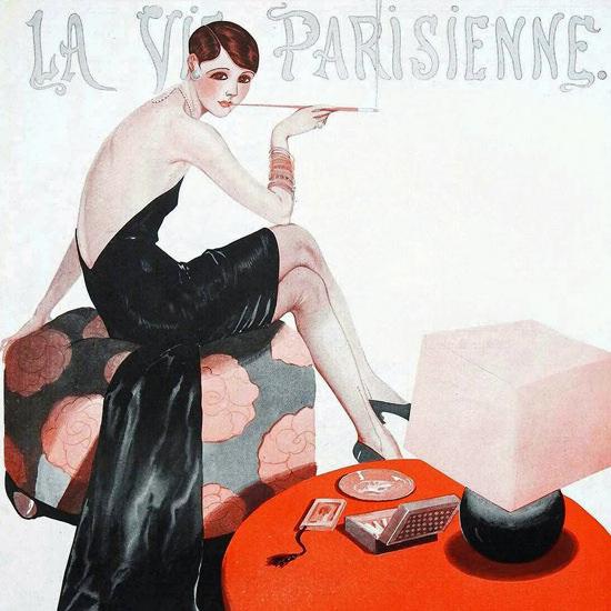 La Vie Parisienne 1926 Intimite Georges Leonnec crop | Best of Vintage Cover Art 1900-1970