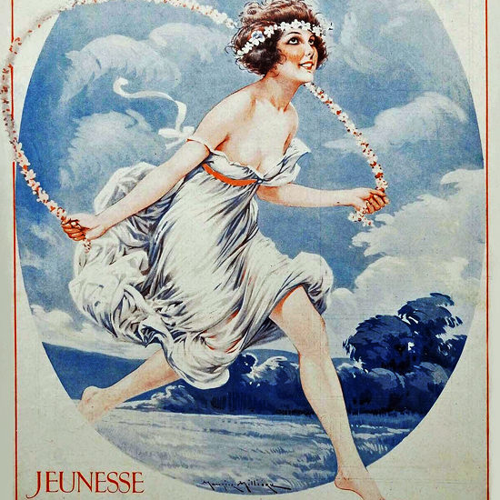 La Vie Parisienne 1926 Jeunesse Maurice Milliere crop | Best of Vintage Cover Art 1900-1970