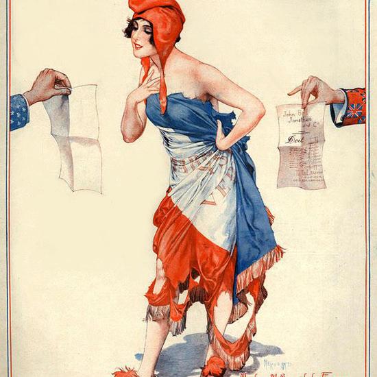 La Vie Parisienne 1926 La Finance Cheri Herouard crop | Best of Vintage Cover Art 1900-1970