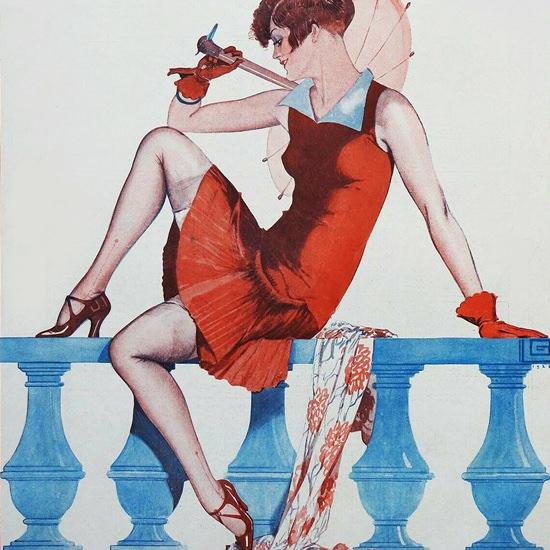 La Vie Parisienne 1926 La Penitence Georges Leonnec crop | Best of 1920s Ad and Cover Art
