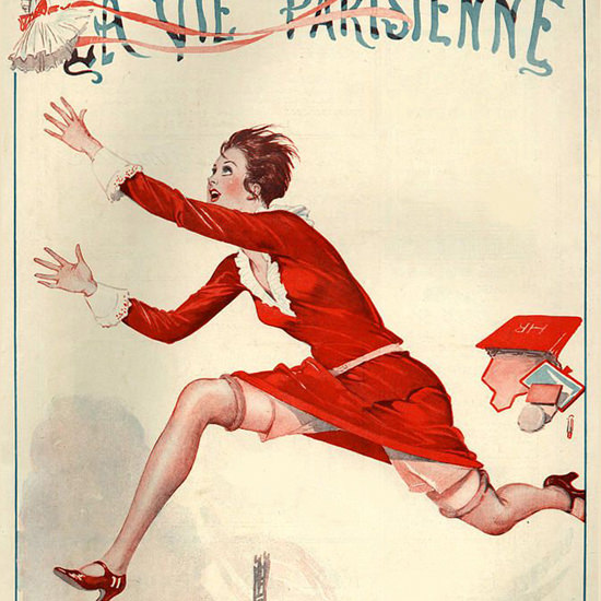 La Vie Parisienne 1926 Maman Georges Leonnec crop | Best of 1920s Ad and Cover Art