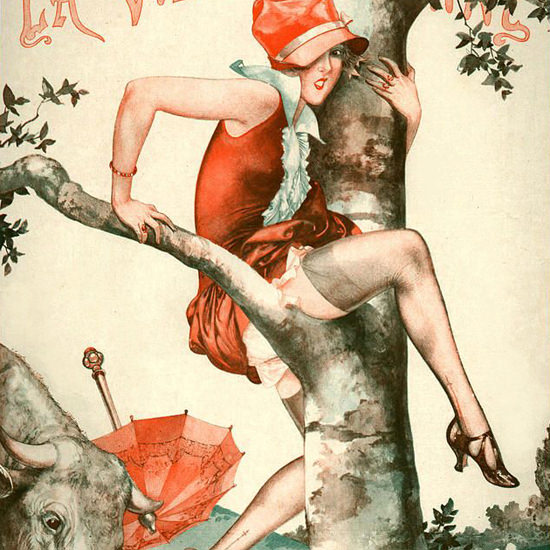 La Vie Parisienne 1926 Parisette Aux Champs Cheri Herouard crop | Best of 1920s Ad and Cover Art