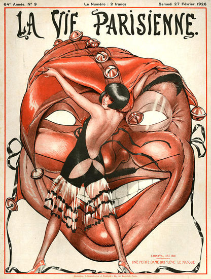 La Vie Parisienne 1926 Petite Dame Le Masque | Sex Appeal Vintage Ads and Covers 1891-1970
