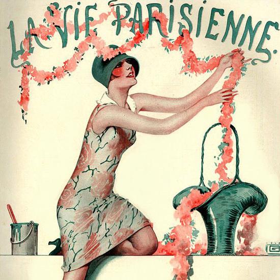 La Vie Parisienne 1926 Renouveau Paris France Georges Leonnec crop | Best of 1920s Ad and Cover Art