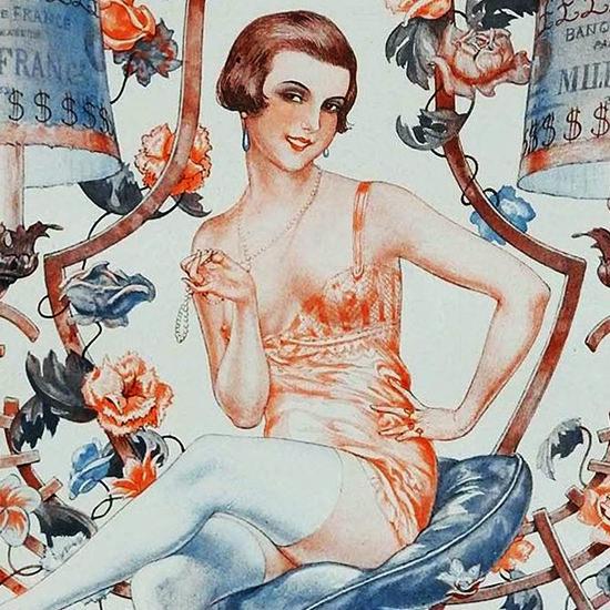 La Vie Parisienne 1926 Retour De Flamme Cheri Herouard crop B | Best of Vintage Cover Art 1900-1970