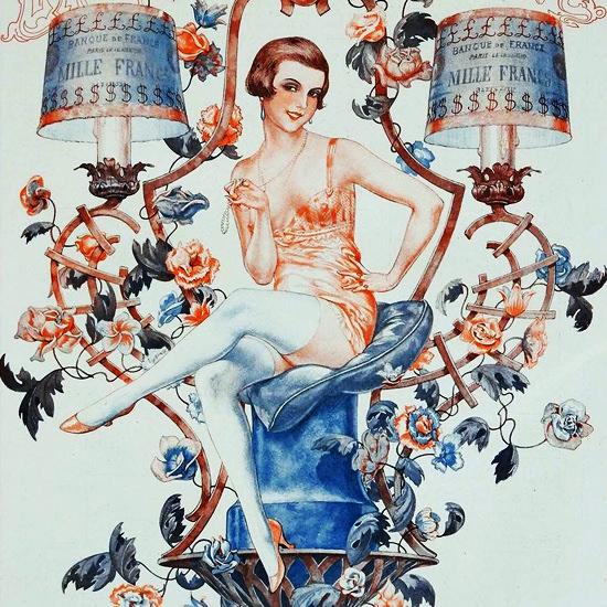 La Vie Parisienne 1926 Retour De Flamme Cheri Herouard crop | Best of Vintage Cover Art 1900-1970