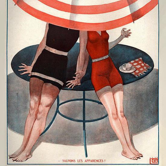 La Vie Parisienne 1926 Sauvons Les Apparences Georges Leonnec crop | Best of Vintage Cover Art 1900-1970