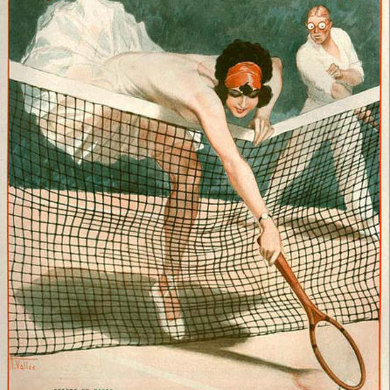 La Vie Parisienne 1926 Tennis Effets Et Poses Armand Vallee crop | Best of 1920s Ad and Cover Art