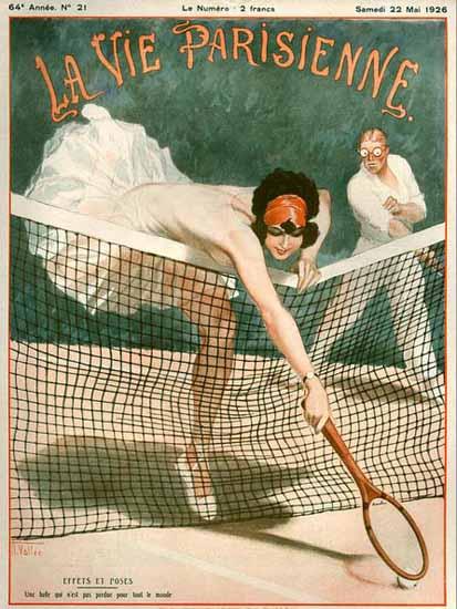 La Vie Parisienne 1926 Tennis Effets Et Poses Sex Appeal | Sex Appeal Vintage Ads and Covers 1891-1970