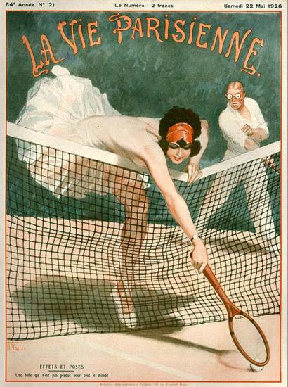 La Vie Parisienne 1926 Tennis Effets Et Poses | Sex Appeal Vintage Ads and Covers 1891-1970