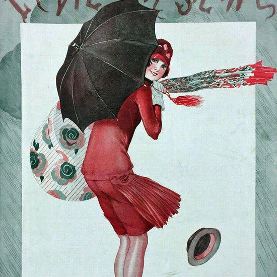La Vie Parisienne 1926 Un Rayon De Soleil Leonnec crop | Best of 1920s Ad and Cover Art