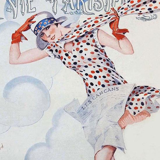 La Vie Parisienne 1926 Vent Debout Georges Leonnec crop B | Best of Vintage Cover Art 1900-1970