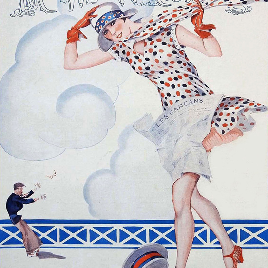 La Vie Parisienne 1926 Vent Debout Georges Leonnec crop | Best of Vintage Cover Art 1900-1970