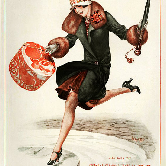 La Vie Parisienne 1927 Alea Jacta Est Cheri Herouard crop | Best of 1920s Ad and Cover Art