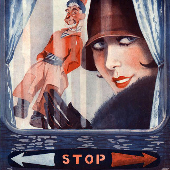 La Vie Parisienne 1927 Attention Georges Leonnec crop | Best of 1920s Ad and Cover Art