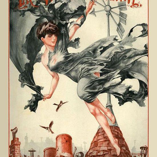 La Vie Parisienne 1927 Changement De Temps Cheri Herouard crop | Best of Vintage Cover Art 1900-1970