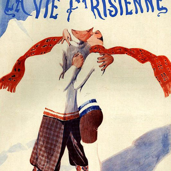 La Vie Parisienne 1927 Double-Blanc Georges Leonnec crop | Best of Vintage Cover Art 1900-1970