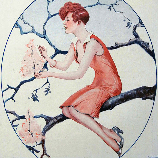 La Vie Parisienne 1927 Essayage De Printemps Georges Leonnec crop | Best of Vintage Cover Art 1900-1970