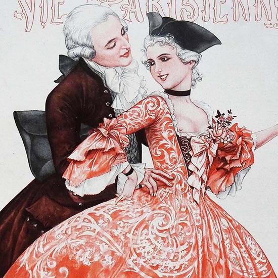 La Vie Parisienne 1927 Janvier 29 Cheri Herouard crop B | Best of Vintage Cover Art 1900-1970