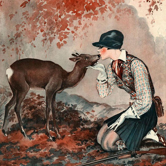 La Vie Parisienne 1927 La Diane Sensible Georges Leonnec crop | Best of Vintage Cover Art 1900-1970