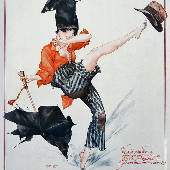 La Vie Parisienne 1927 Le Petit Fevrier Cheri Herouard crop | Best of 1920s Ad and Cover Art