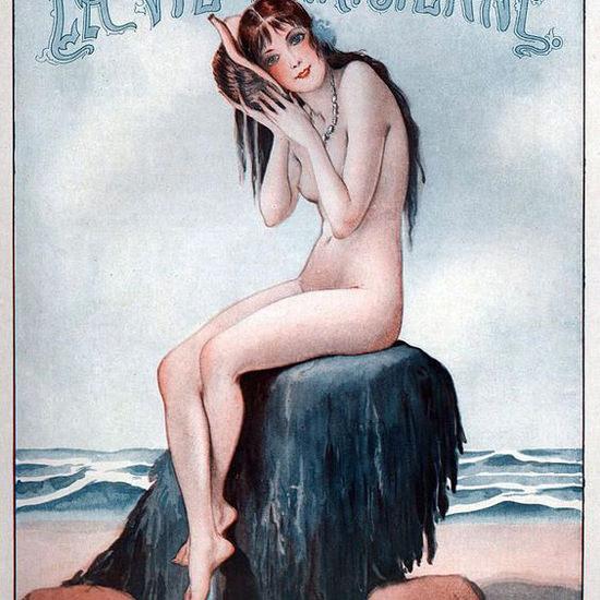 La Vie Parisienne 1927 Le Premier Concert Par TSF Georges Leonnec crop | Best of 1920s Ad and Cover Art