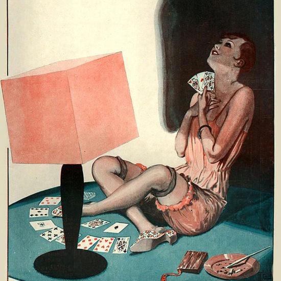 La Vie Parisienne 1927 Les Predictions Georges Leonnec crop | Best of Vintage Cover Art 1900-1970