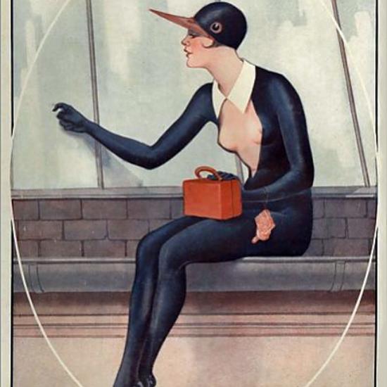 La Vie Parisienne 1927 Les Premiere Hirondelle Georges Leonnec crop | Best of 1920s Ad and Cover Art