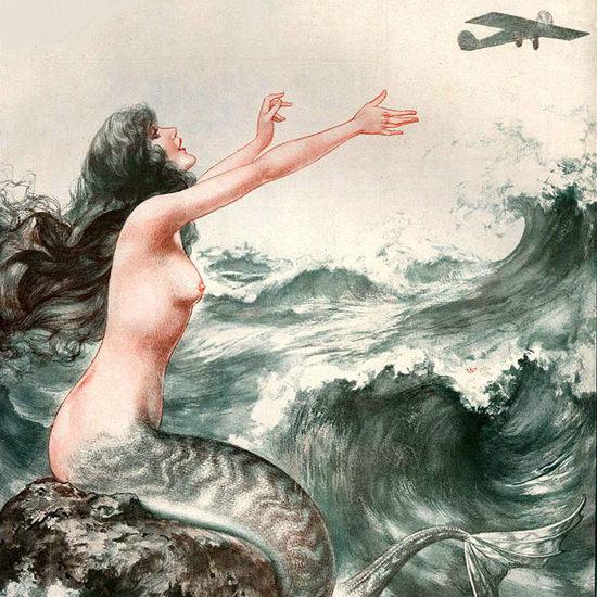 La Vie Parisienne 1927 Nouvel Ulysse Et Les Sirenes Cheri Herouard crop | Best of Vintage Cover Art 1900-1970