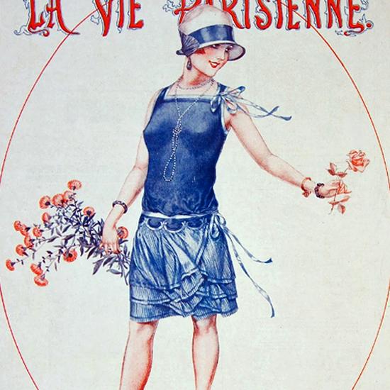 La Vie Parisienne 1927 Offrande D Amour Cheri Herouard crop | Best of Vintage Cover Art 1900-1970
