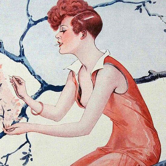 La Vie Parisienne 1927 Premier Essayage De Printemps Georges Leonnec crop B | Best of Vintage Cover Art 1900-1970