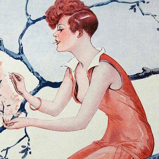 La Vie Parisienne 1927 Premier Essayage De Printemps Georges Leonnec crop B | Best of 1920s Ad and Cover Art