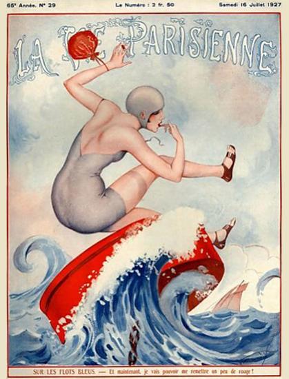 La Vie Parisienne 1927 Sur Les Flots Bleus Sex Appeal | Sex Appeal Vintage Ads and Covers 1891-1970