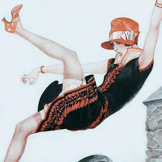 La Vie Parisienne 1927 Un Ecart De Conduite Cheri Herouard crop B | Best of 1920s Ad and Cover Art