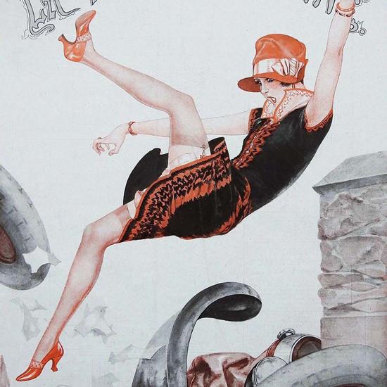 La Vie Parisienne 1927 Un Ecart De Conduite Cheri Herouard crop | Best of Vintage Cover Art 1900-1970