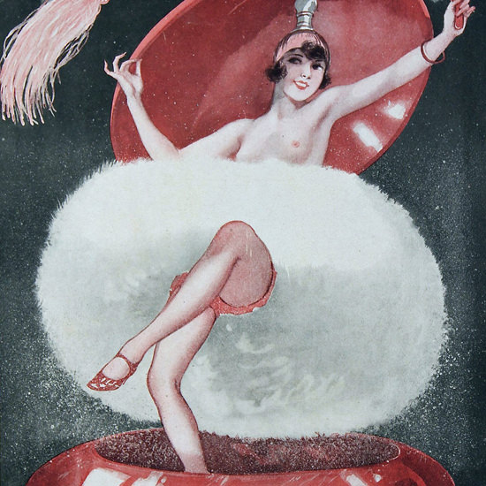 La Vie Parisienne 1927 Un Nuage De Poudre Cheri Herouard crop | Best of 1920s Ad and Cover Art