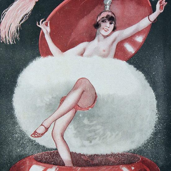 La Vie Parisienne 1927 Un Nuage De Poudre Cheri Herouard crop | Best of Vintage Cover Art 1900-1970