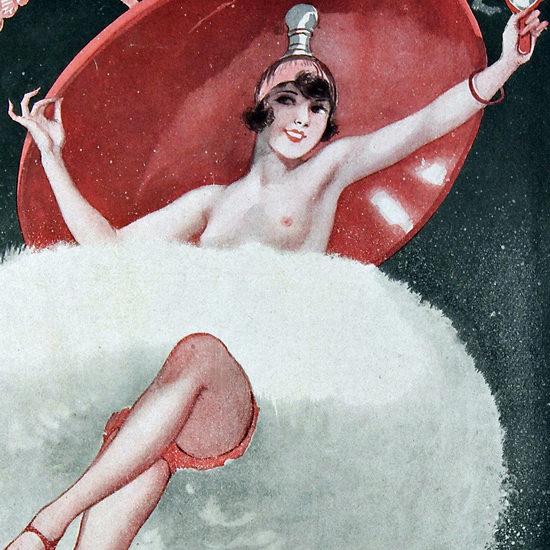 La Vie Parisienne 1927 Un Nuage De Poudre Georges Leonnec crop B   Best of 1920s Ad and Cover Art
