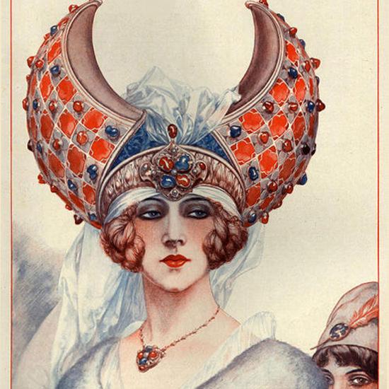 La Vie Parisienne 1927 Une Beaute Du Diable Cheri Herouard crop | Best of Vintage Cover Art 1900-1970